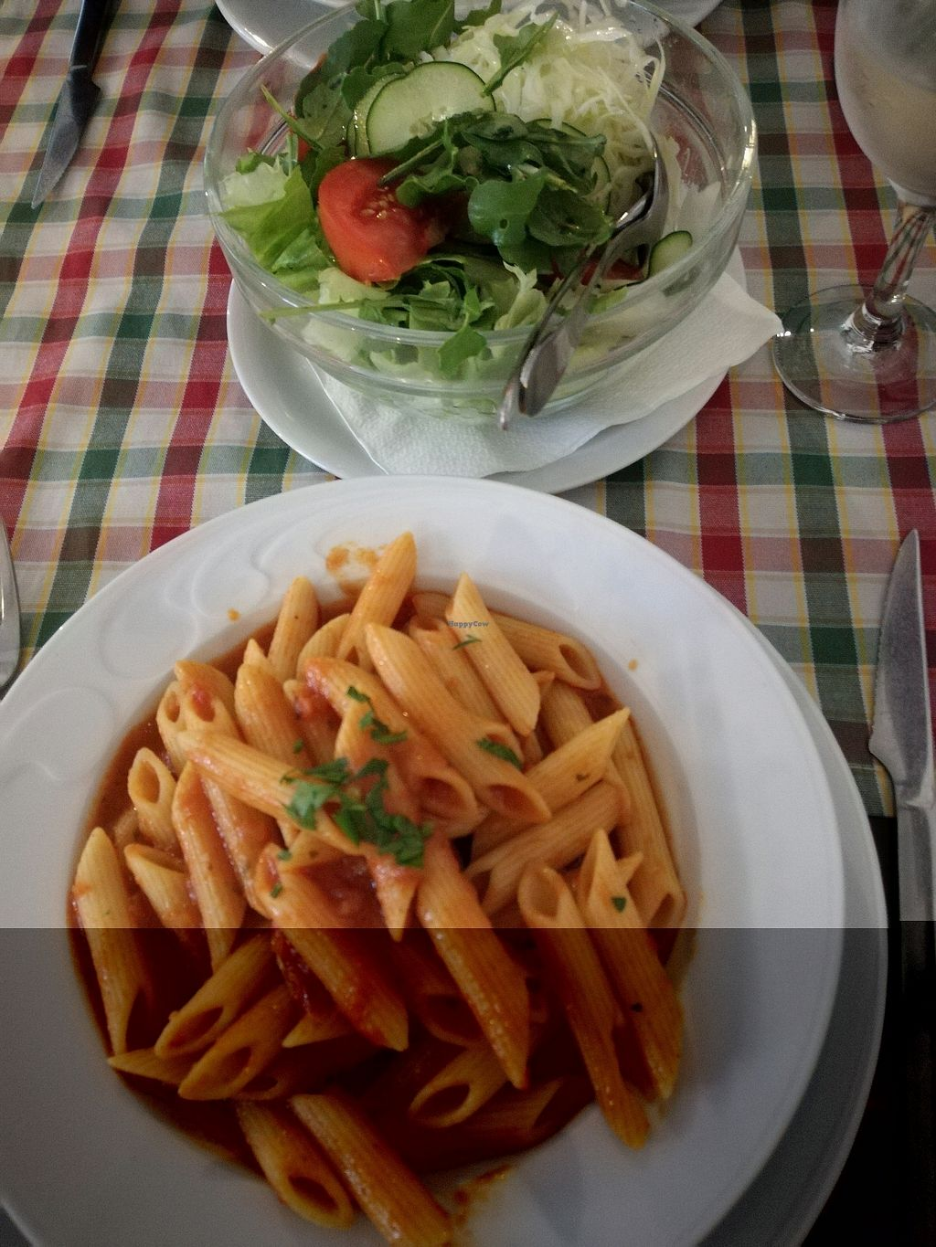 """Photo of Konoba Bonaca  by <a href=""""/members/profile/NatachaDeSousa"""">NatachaDeSousa</a> <br/>tomate pasta and salad on the side <br/> October 19, 2017  - <a href='/contact/abuse/image/81756/316580'>Report</a>"""