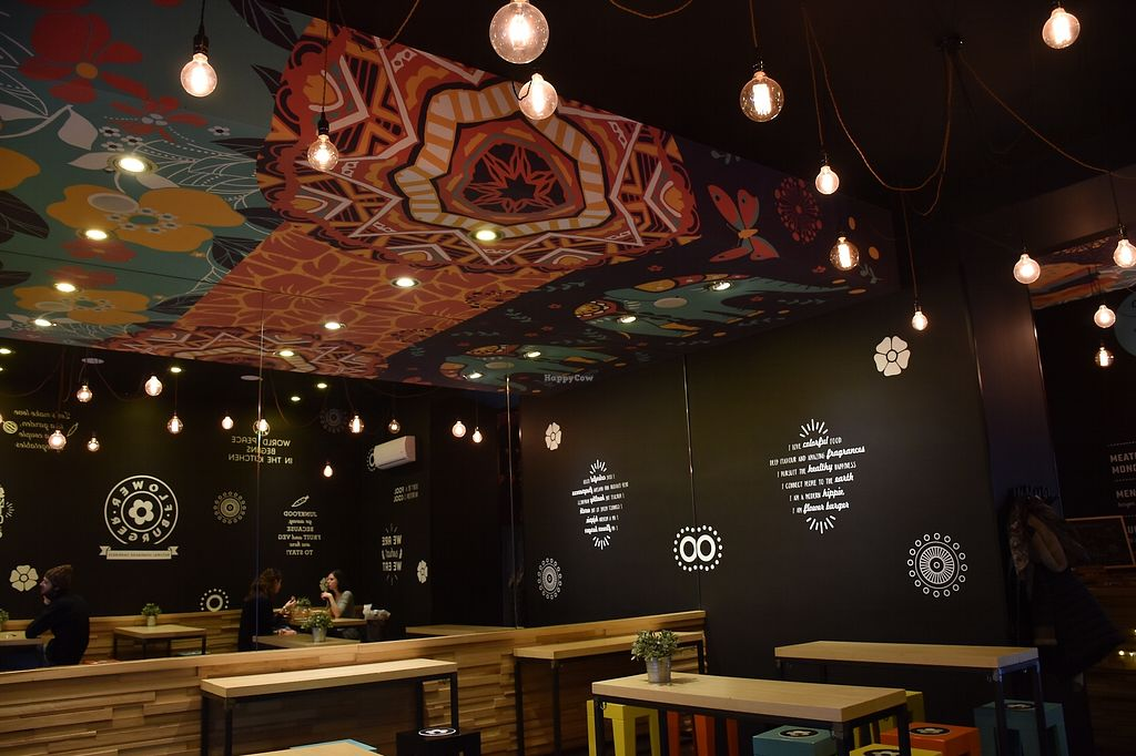 """Photo of Flower Burger  by <a href=""""/members/profile/mbendi"""">mbendi</a> <br/>The decorations in the restaurant <br/> December 31, 2017  - <a href='/contact/abuse/image/81758/341346'>Report</a>"""