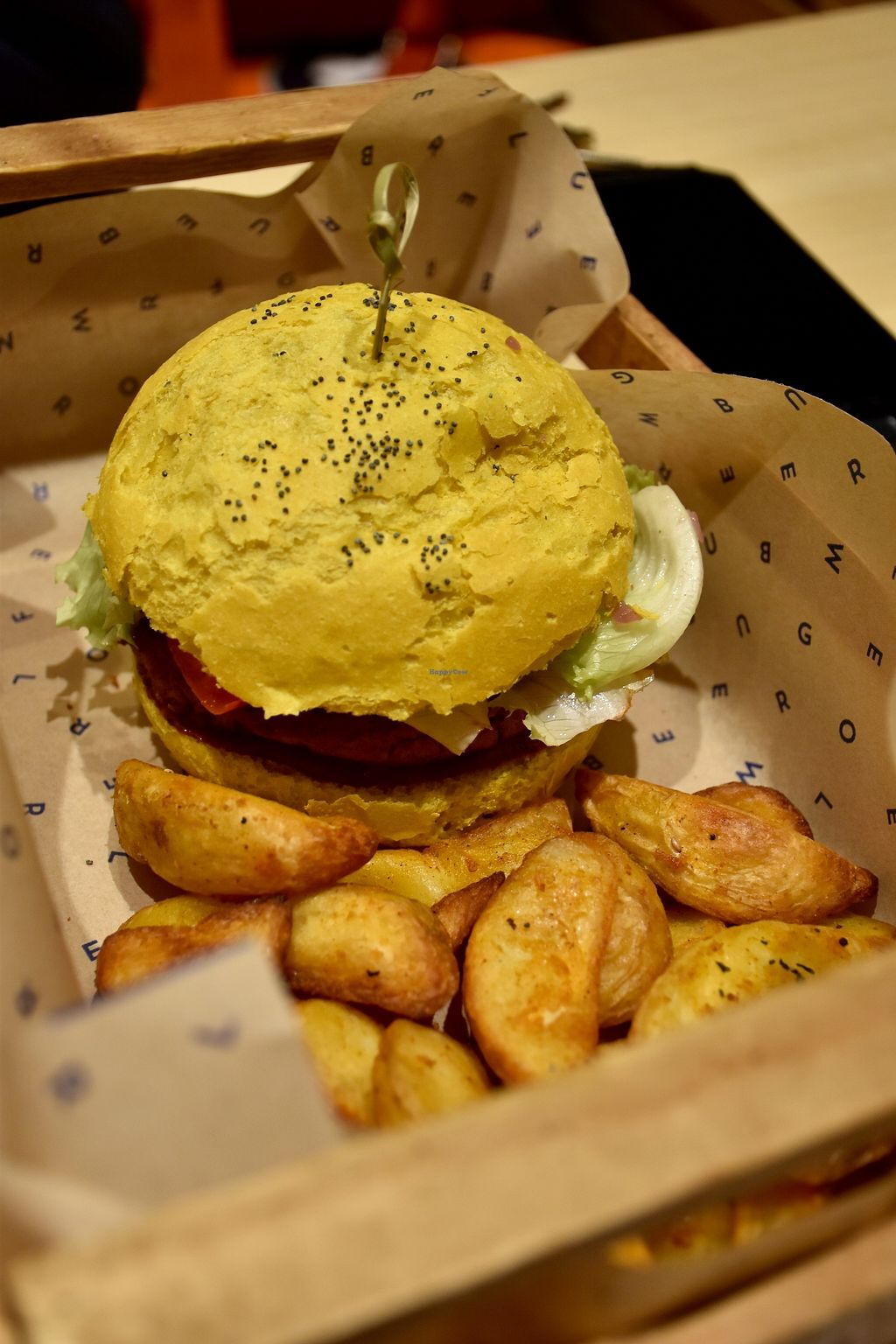 """Photo of Flower Burger  by <a href=""""/members/profile/mbendi"""">mbendi</a> <br/>A yellow burger with fries :) <br/> December 31, 2017  - <a href='/contact/abuse/image/81758/341347'>Report</a>"""