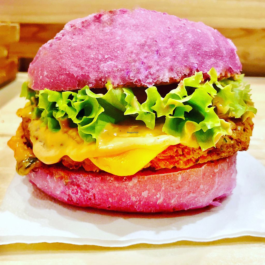 "Photo of Flower Burger  by <a href=""/members/profile/josephsuar"">josephsuar</a> <br/>Amazing Vegan Burger  <br/> March 18, 2018  - <a href='/contact/abuse/image/81758/372603'>Report</a>"