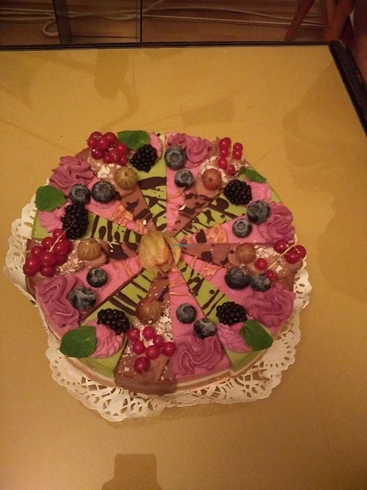 """Photo of Simply Vegan  by <a href=""""/members/profile/Vegannya"""">Vegannya</a> <br/>My raw B-day cake! <br/> December 13, 2017  - <a href='/contact/abuse/image/81763/335209'>Report</a>"""