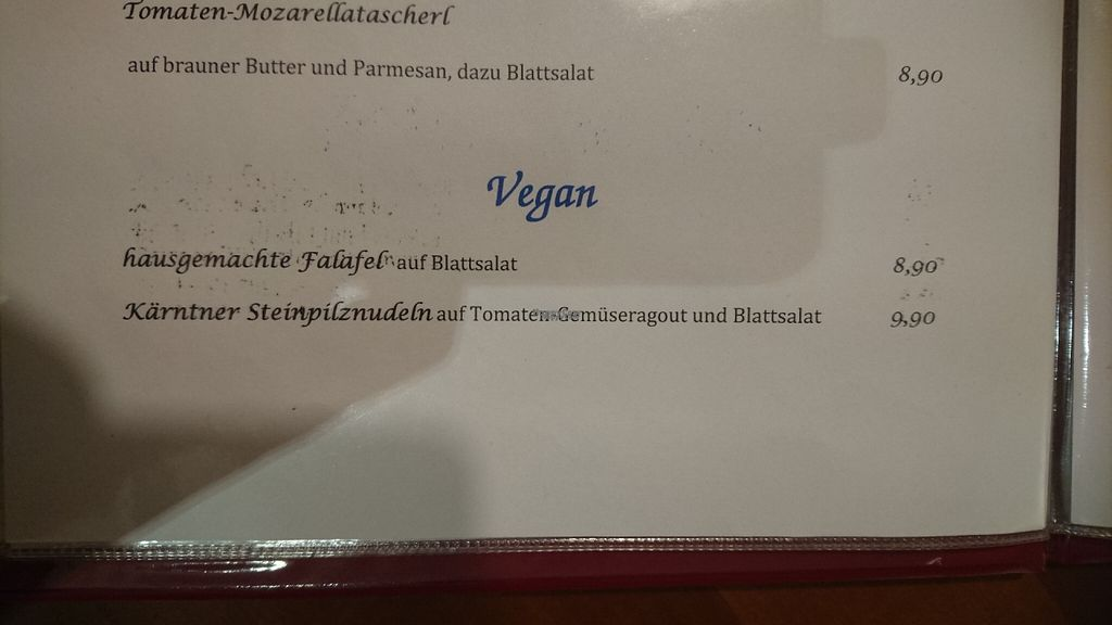 """Photo of Gasthaus Mang  by <a href=""""/members/profile/christa.fleck"""">christa.fleck</a> <br/>the menu <br/> October 22, 2016  - <a href='/contact/abuse/image/81770/183658'>Report</a>"""