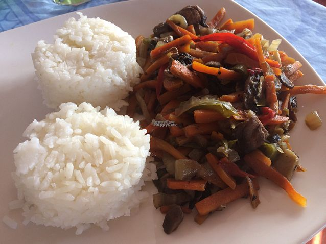 "Photo of Donde la Tia Sonia  by <a href=""/members/profile/Siup"">Siup</a> <br/>rice rice with mixed vegetables  <br/> October 21, 2016  - <a href='/contact/abuse/image/81771/183301'>Report</a>"