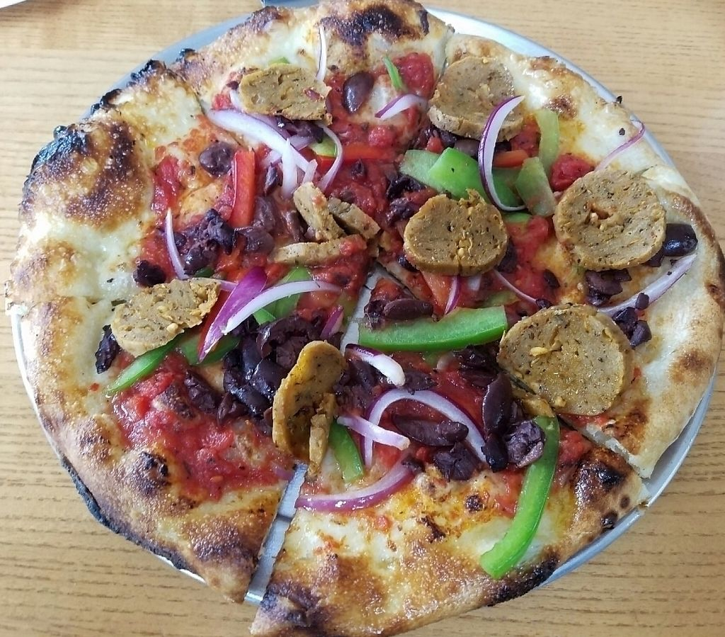 "Photo of Harvest Pizzeria  by <a href=""/members/profile/Silly%20Little%20Vegan"">Silly Little Vegan</a> <br/>Personal pizza with vegan sausage <br/> October 22, 2016  - <a href='/contact/abuse/image/81773/216784'>Report</a>"