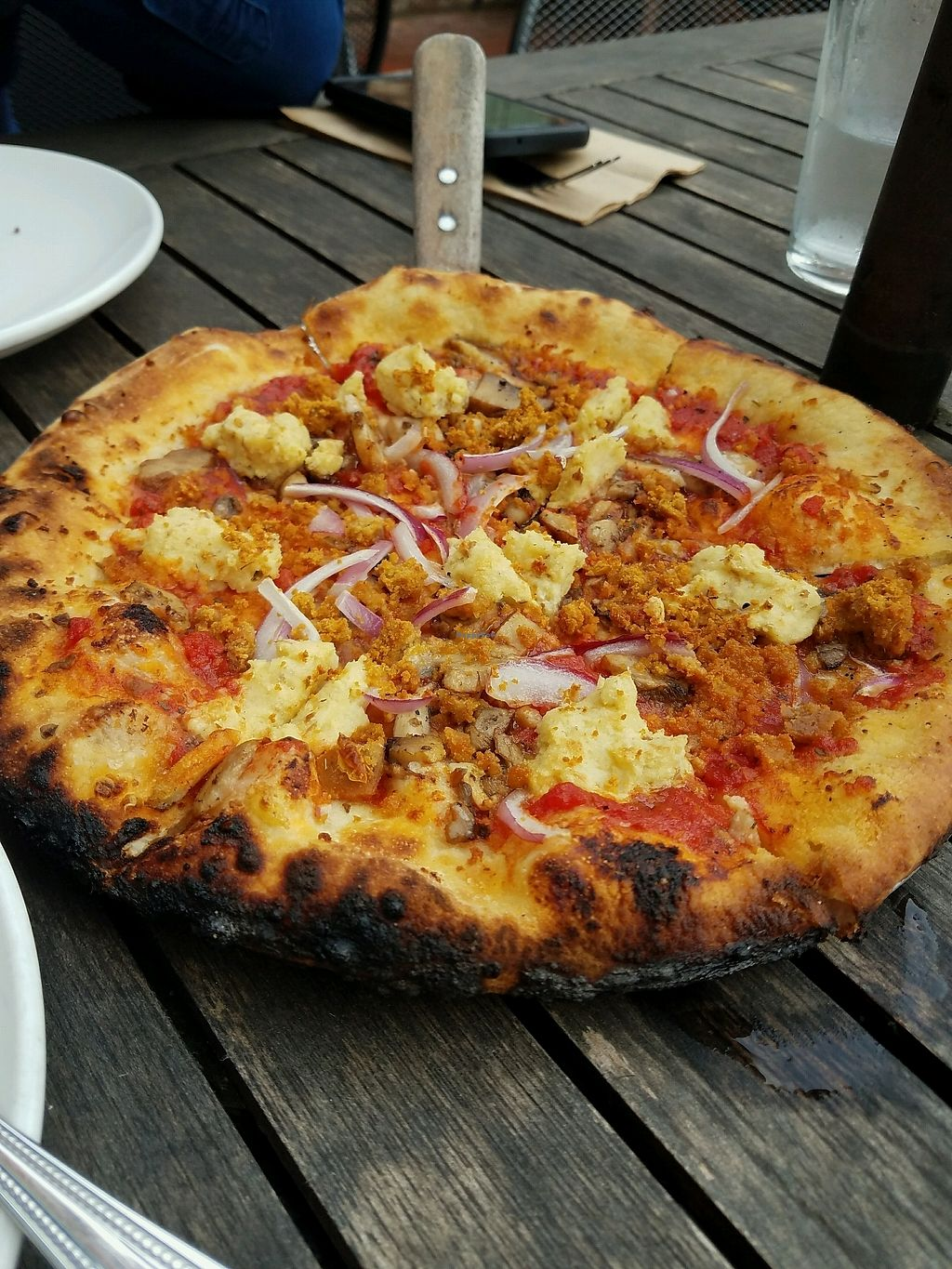 "Photo of Harvest Pizzeria  by <a href=""/members/profile/Silly%20Little%20Vegan"">Silly Little Vegan</a> <br/>Vegan sausage and cashew cheese pizza <br/> March 11, 2018  - <a href='/contact/abuse/image/81773/369396'>Report</a>"