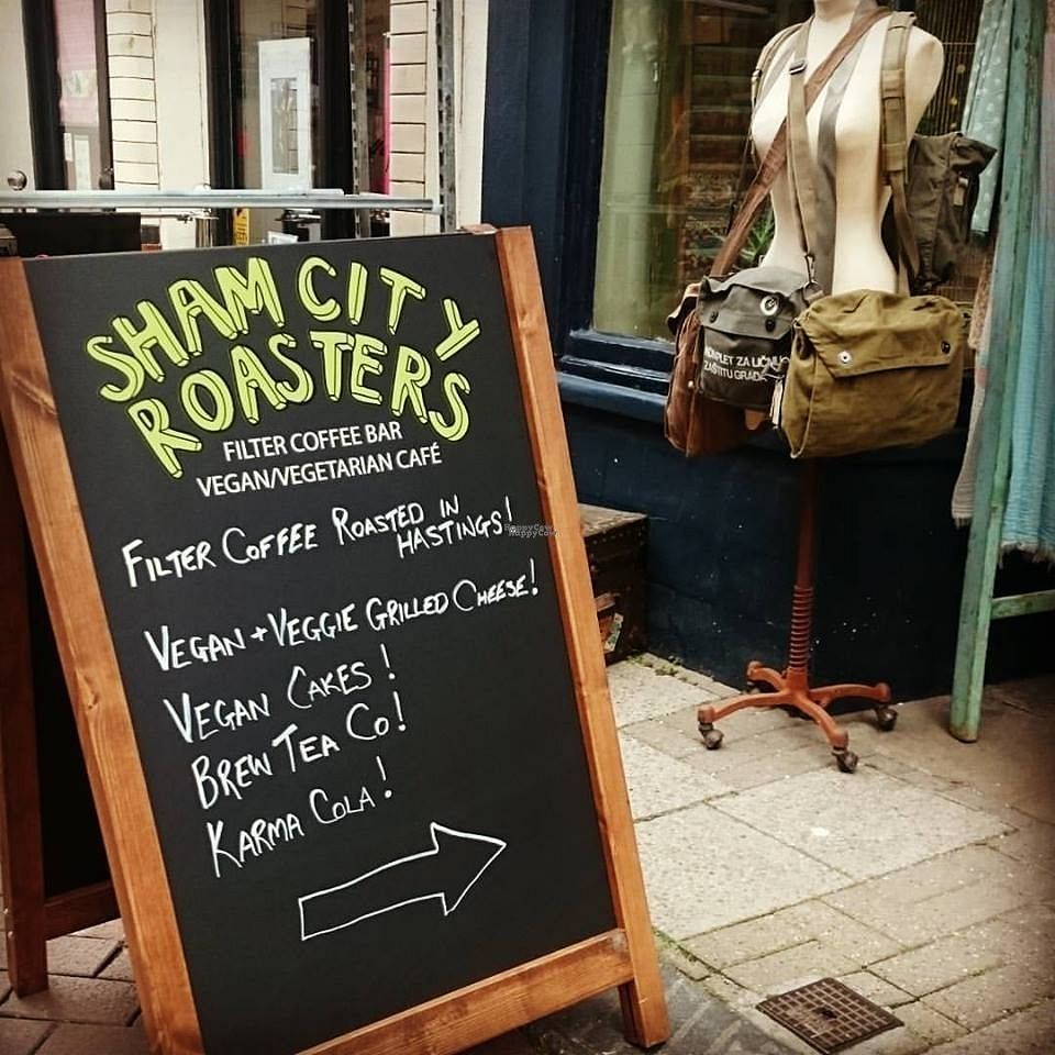 """Photo of Sham City Roasters  by <a href=""""/members/profile/ShamCityRoasters"""">ShamCityRoasters</a> <br/>Look for the sign outside The Clockwork Crow!!! <br/> October 23, 2016  - <a href='/contact/abuse/image/81790/183918'>Report</a>"""