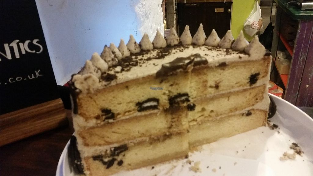 """Photo of Sham City Roasters  by <a href=""""/members/profile/SiobhanSlattery"""">SiobhanSlattery</a> <br/>Vegan oreo cake <br/> January 18, 2017  - <a href='/contact/abuse/image/81790/213043'>Report</a>"""