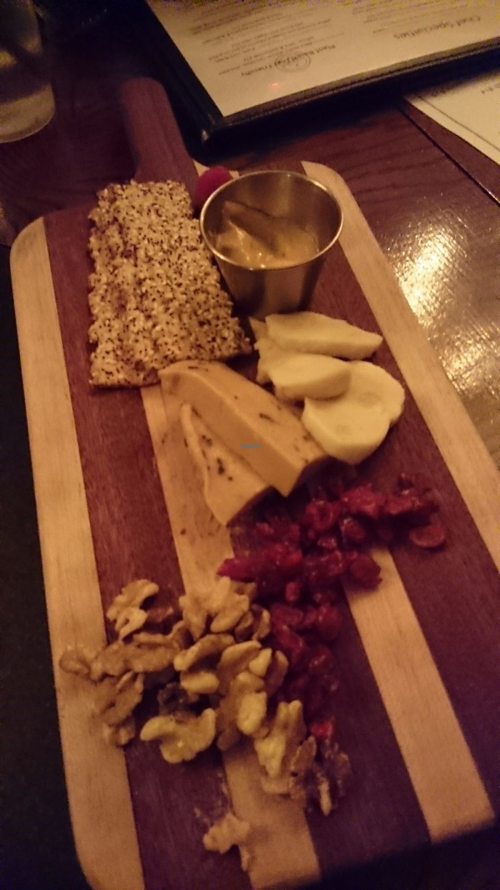 """Photo of Great American Pub  by <a href=""""/members/profile/ZoraySpielvogel"""">ZoraySpielvogel</a> <br/>Vegan cheese board  <br/> March 31, 2017  - <a href='/contact/abuse/image/81793/243156'>Report</a>"""