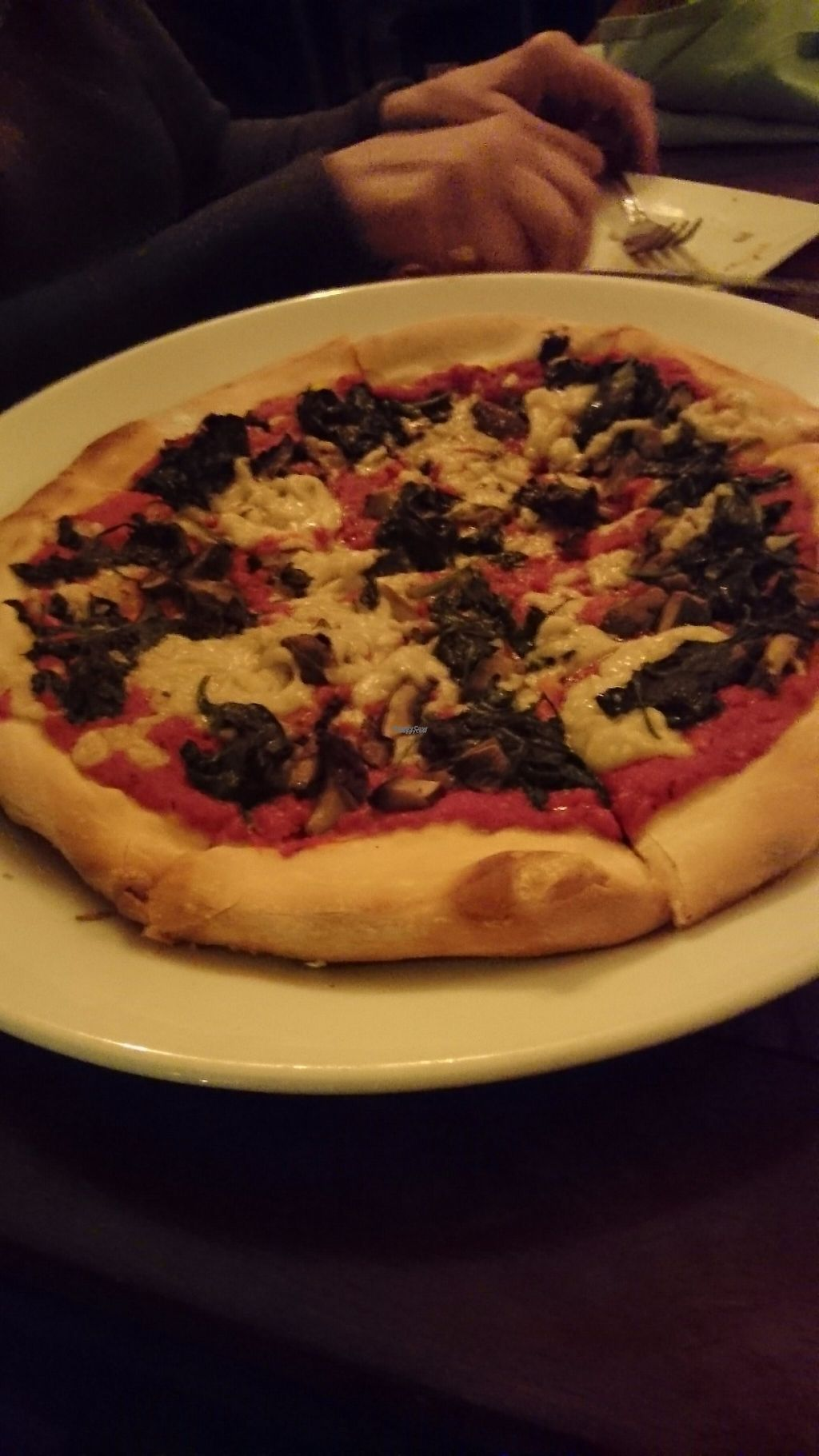 """Photo of Great American Pub  by <a href=""""/members/profile/ZoraySpielvogel"""">ZoraySpielvogel</a> <br/>Vegan pizza  <br/> March 31, 2017  - <a href='/contact/abuse/image/81793/243157'>Report</a>"""