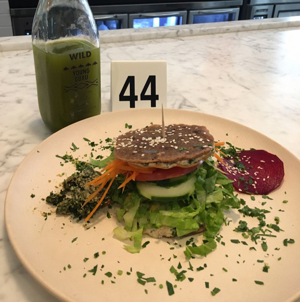 """Photo of Wild Living Foods  by <a href=""""/members/profile/aximal"""">aximal</a> <br/>The Burger is FIRE!!!!!!! and Young Guru Juice <br/> November 5, 2016  - <a href='/contact/abuse/image/81797/186758'>Report</a>"""