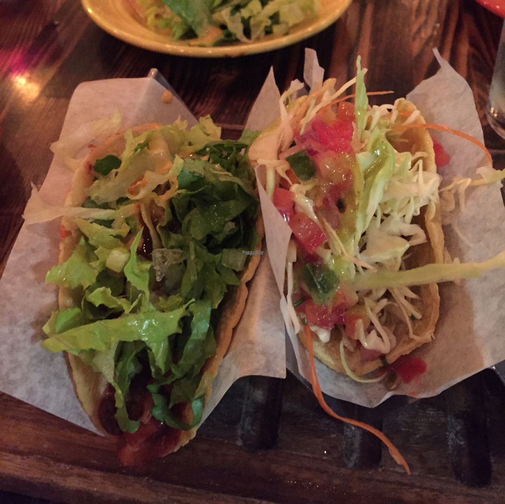 """Photo of Tacos & Beer  by <a href=""""/members/profile/AshleighWhitworth"""">AshleighWhitworth</a> <br/>black bean and pineapple taco, battered avocado taco <br/> April 4, 2017  - <a href='/contact/abuse/image/81799/244530'>Report</a>"""
