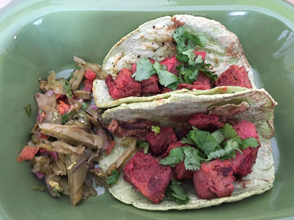 """Photo of Chia Fonda Vegana  by <a href=""""/members/profile/CHAPIS1028"""">CHAPIS1028</a> <br/>Tacos de Carnitas <br/> December 31, 2016  - <a href='/contact/abuse/image/81808/206588'>Report</a>"""