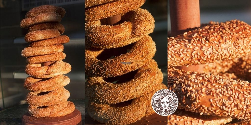 """Photo of Margarita Bakery  by <a href=""""/members/profile/Kaloyan.Petrov"""">Kaloyan.Petrov</a> <br/>Sesame covered and 100 % vegan. It is called """"gevrek"""". Let's say it is a kind of bretsel <br/> October 24, 2016  - <a href='/contact/abuse/image/81811/184171'>Report</a>"""