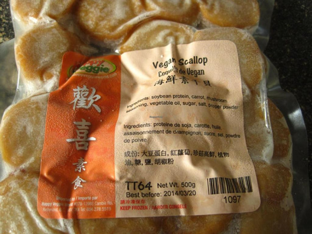 "Photo of Tiende Sante and Vegetarian  by <a href=""/members/profile/Babette"">Babette</a> <br/>Vegan scallops <br/> February 17, 2015  - <a href='/contact/abuse/image/8181/93427'>Report</a>"