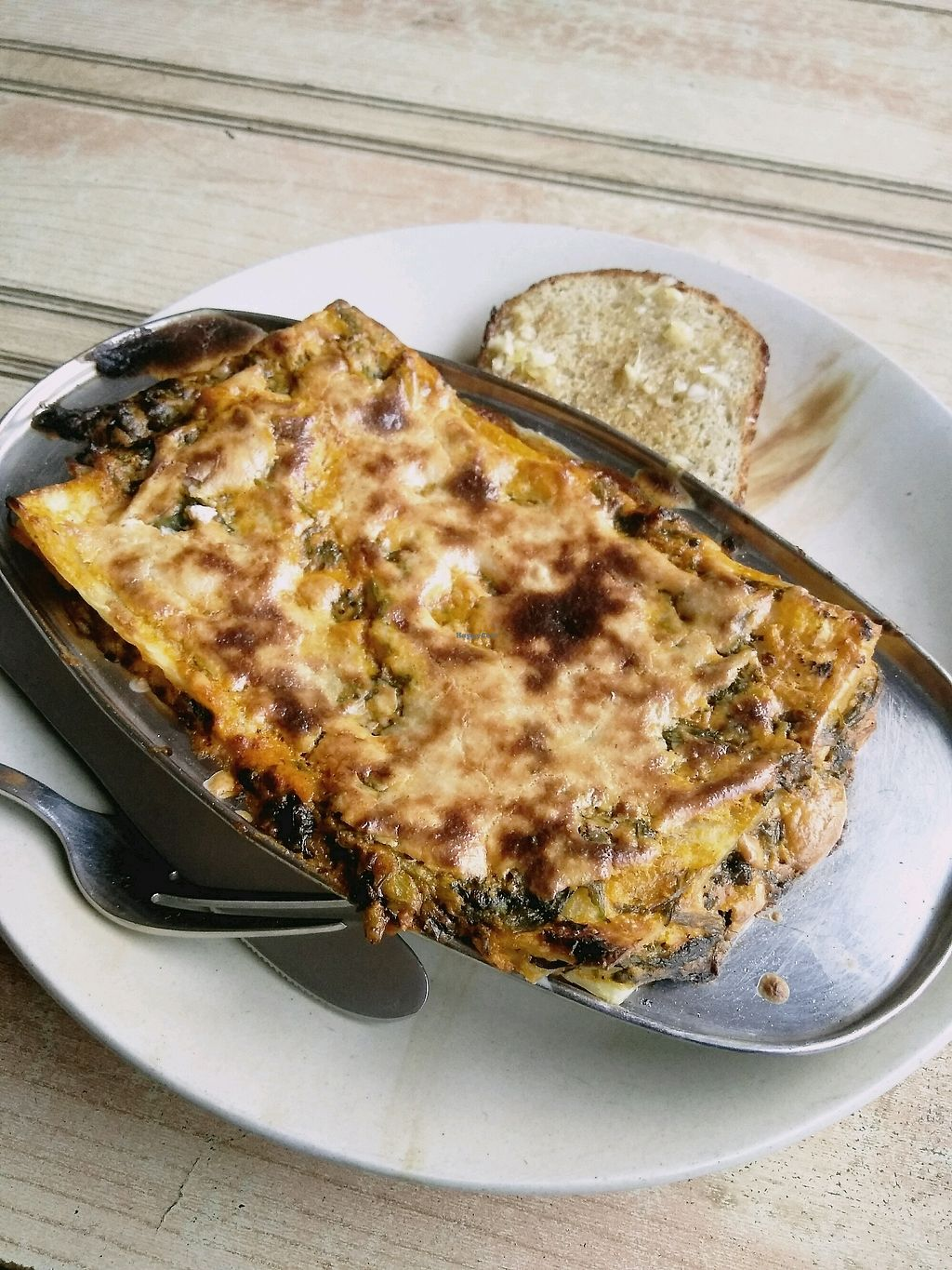 "Photo of TATTV Cafe  by <a href=""/members/profile/dp291185"">dp291185</a> <br/>Vegan Lasagna : creamy tomato sauce and spinach fillings <br/> November 29, 2017  - <a href='/contact/abuse/image/81822/330595'>Report</a>"