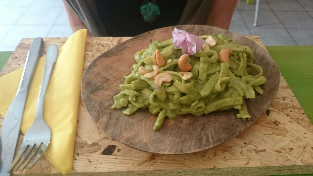 """Photo of HEARTH  by <a href=""""/members/profile/Cynthia1998"""">Cynthia1998</a> <br/>vegan fresh tagliatelle with green pesto <br/> July 22, 2017  - <a href='/contact/abuse/image/81827/283188'>Report</a>"""