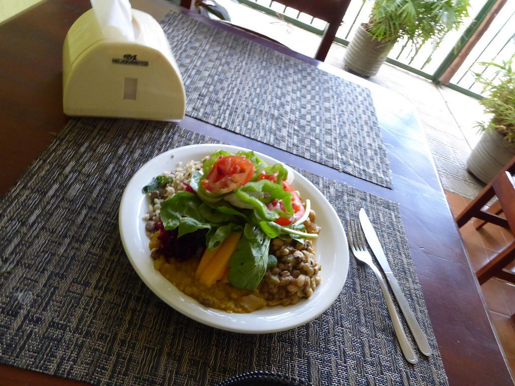 """Photo of Vegethare Restaurante Vegetariano  by <a href=""""/members/profile/jonap"""">jonap</a> <br/>Typical vegan meal <br/> October 22, 2016  - <a href='/contact/abuse/image/81836/183709'>Report</a>"""
