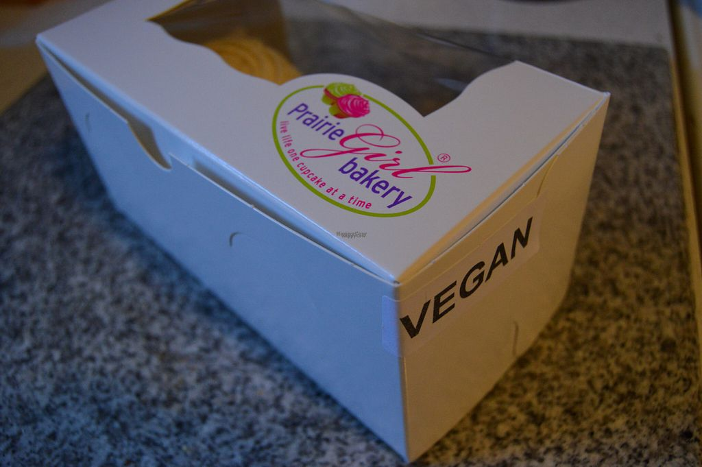 """Photo of Prairie Girl Bakery - Bloor St  by <a href=""""/members/profile/Vegan%20GiGi"""">Vegan GiGi</a> <br/>Cupcake box <br/> October 23, 2016  - <a href='/contact/abuse/image/81852/183993'>Report</a>"""