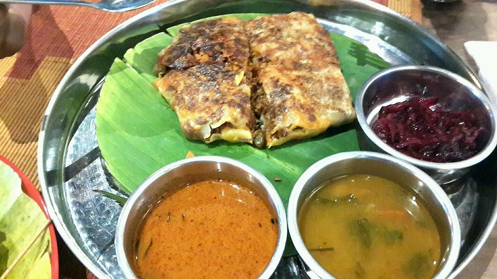 """Photo of Bindhu Restaurant  by <a href=""""/members/profile/lotus.light"""">lotus.light</a> <br/>Veg mutton murtabak <br/> January 20, 2018  - <a href='/contact/abuse/image/81868/348888'>Report</a>"""