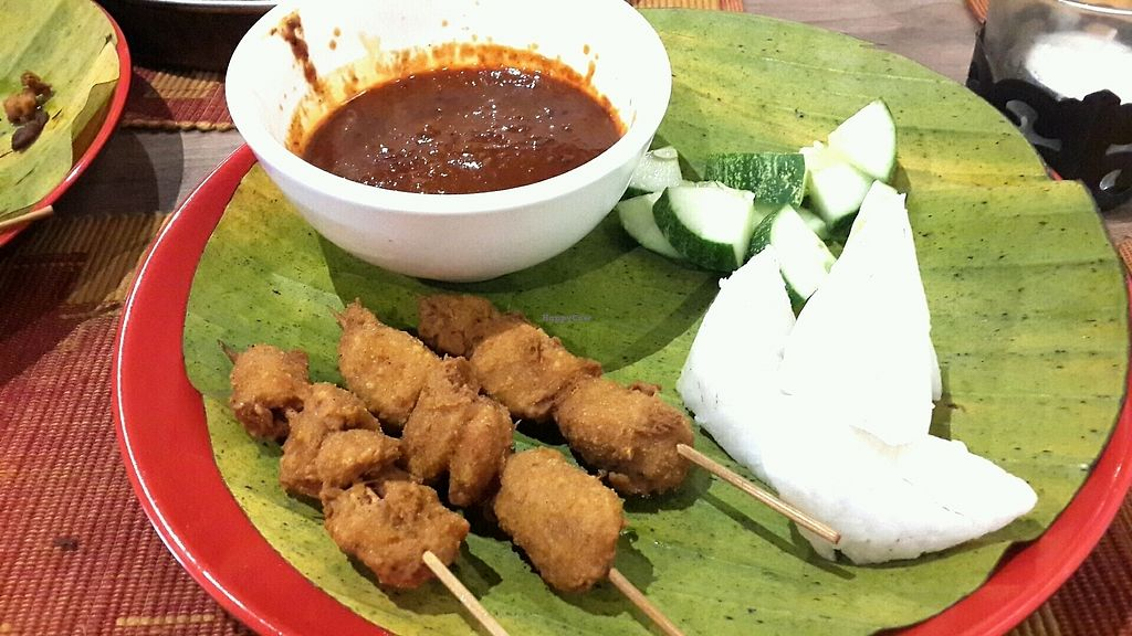 """Photo of Bindhu Restaurant  by <a href=""""/members/profile/lotus.light"""">lotus.light</a> <br/>Veg chicken satay <br/> January 20, 2018  - <a href='/contact/abuse/image/81868/348889'>Report</a>"""
