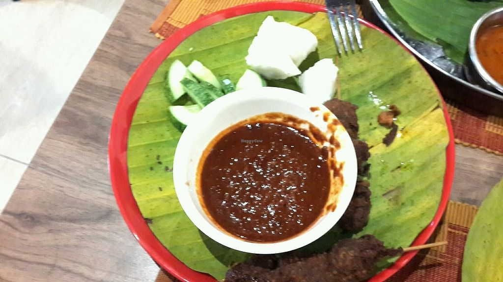 """Photo of Bindhu Restaurant  by <a href=""""/members/profile/lotus.light"""">lotus.light</a> <br/>Veg mutton satay. Too crispy, sauce too spicy, nothing like authentic satay sauce which should contain a lot of peanuts <br/> January 20, 2018  - <a href='/contact/abuse/image/81868/348892'>Report</a>"""
