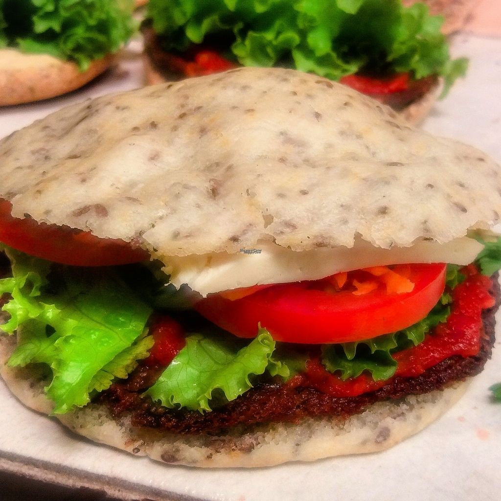 """Photo of Hostal Joshua  by <a href=""""/members/profile/Carlosguevara"""">Carlosguevara</a> <br/>Gluten free lentil Burger whit Korn bread and seeds, home made ketchup, organic salad, tomatoes and karotes.  <br/> October 24, 2016  - <a href='/contact/abuse/image/81884/184217'>Report</a>"""