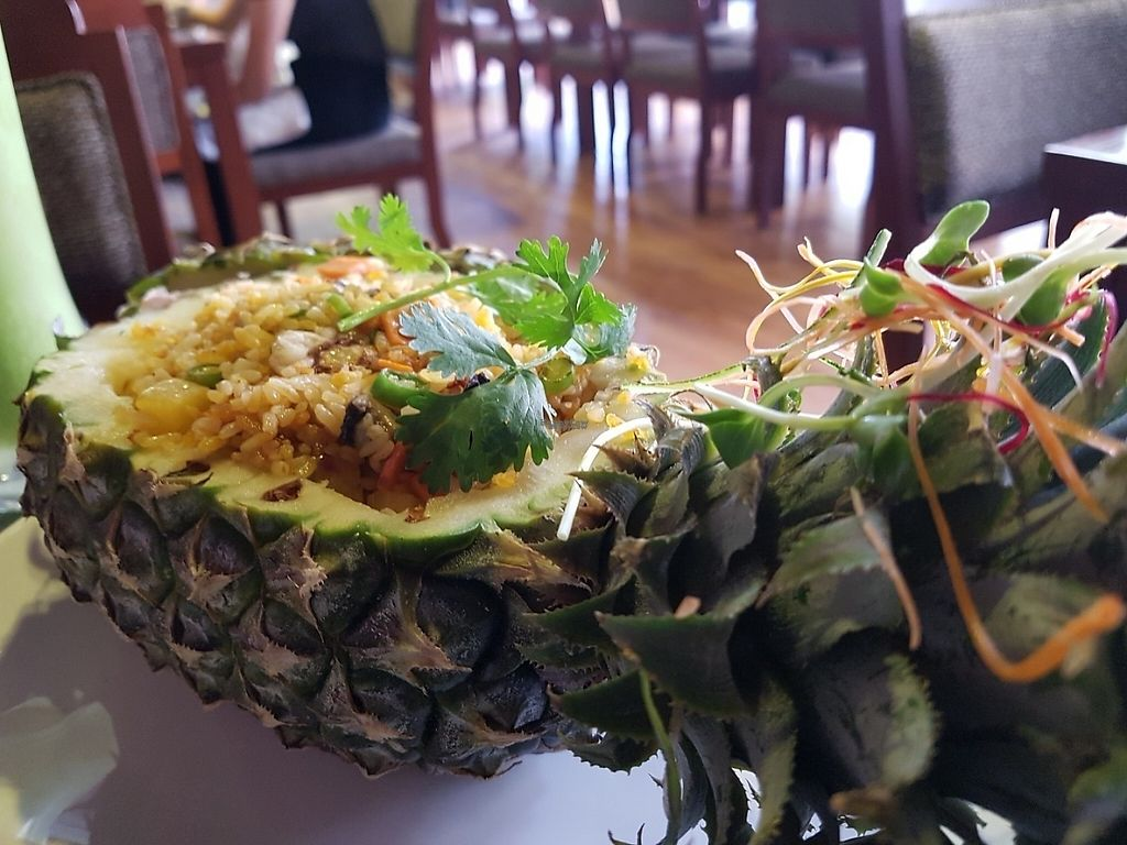 """Photo of Biogarten Restaurant  by <a href=""""/members/profile/Rosa%20veg"""">Rosa veg</a> <br/>Pineapple rice <br/> April 16, 2017  - <a href='/contact/abuse/image/81896/249154'>Report</a>"""