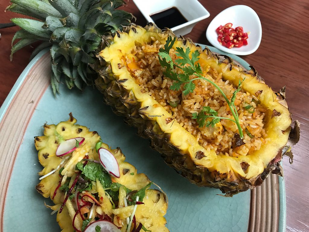 """Photo of Biogarten Restaurant  by <a href=""""/members/profile/DivyaBabbar"""">DivyaBabbar</a> <br/>fried rice and vegetables, served with pineapple Salsa <br/> July 19, 2017  - <a href='/contact/abuse/image/81896/282146'>Report</a>"""