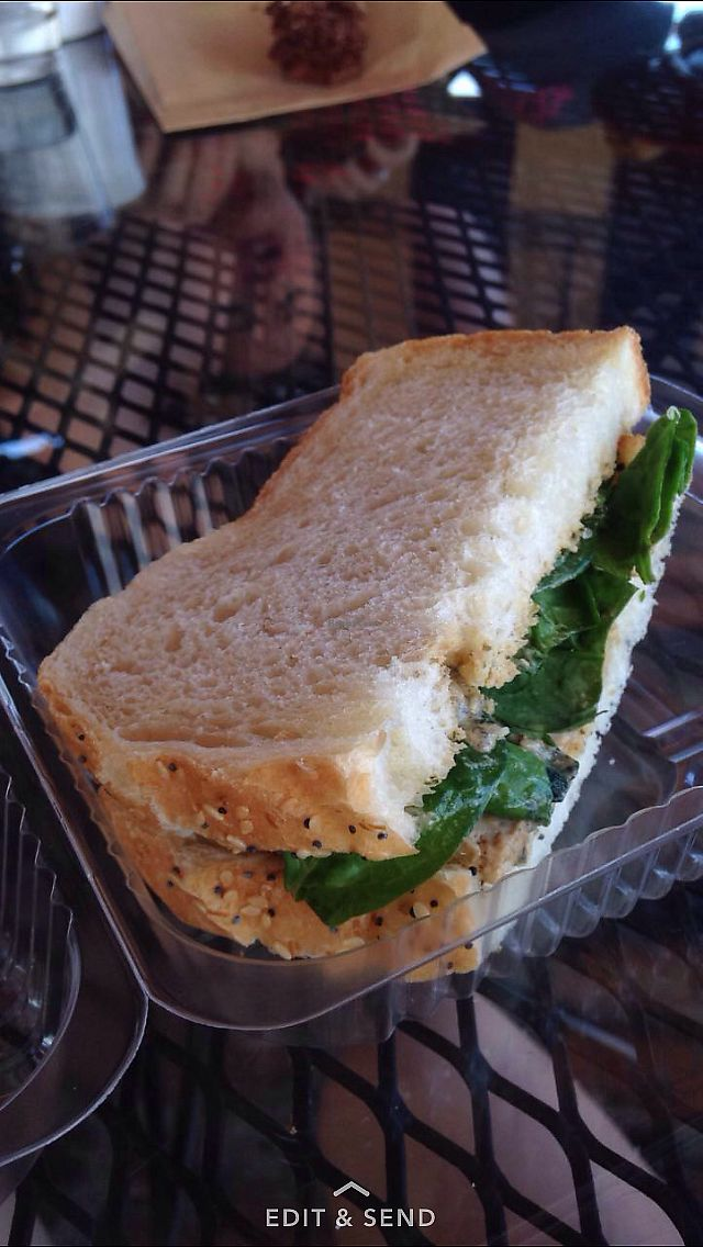 "Photo of River and Rail Bakery  by <a href=""/members/profile/LifeOnFireFitness"">LifeOnFireFitness</a> <br/>Delicious vegan options! Green goddess tofu sandwich <br/> September 13, 2017  - <a href='/contact/abuse/image/81916/304007'>Report</a>"