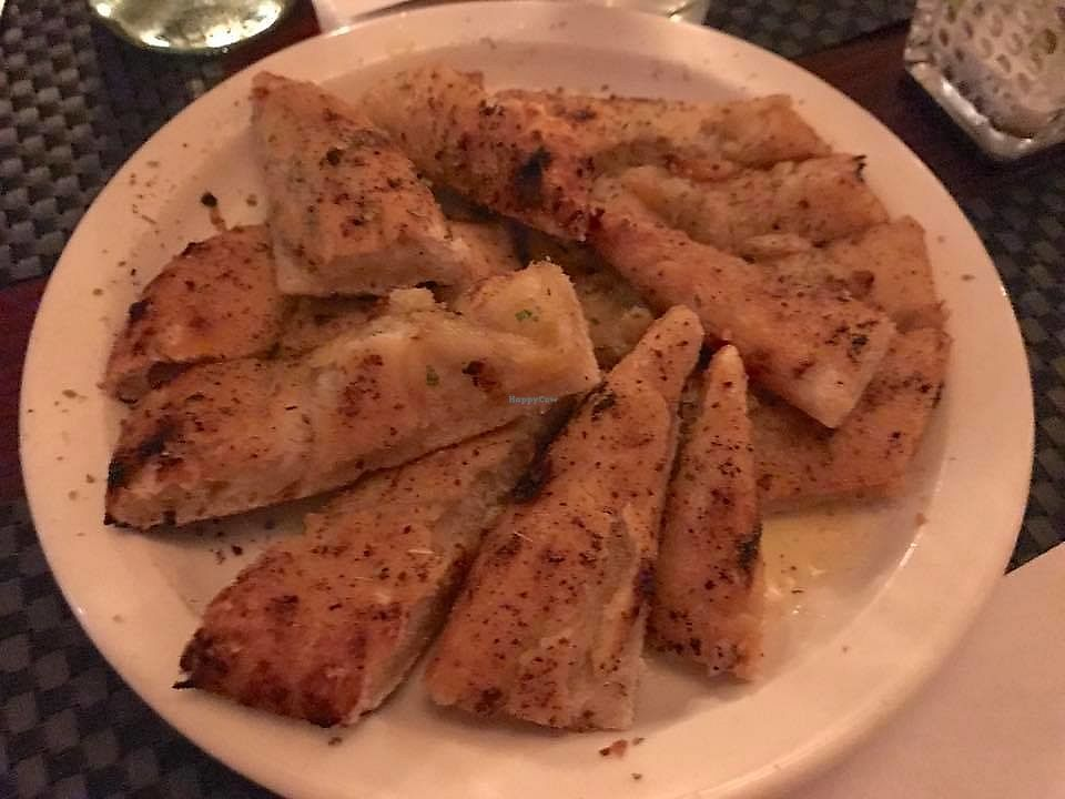 "Photo of Woodstock Pizza and Trattoria  by <a href=""/members/profile/VeganFriendsNotFood"">VeganFriendsNotFood</a> <br/>Roasted Garlic Flatbread <br/> November 19, 2017  - <a href='/contact/abuse/image/81921/327084'>Report</a>"
