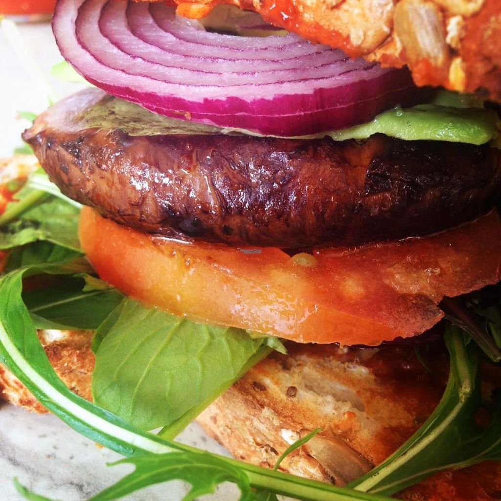 """Photo of V on Wheels  by <a href=""""/members/profile/VonWheels"""">VonWheels</a> <br/>Mushroom burger. Vegan <br/> October 30, 2016  - <a href='/contact/abuse/image/81943/185365'>Report</a>"""