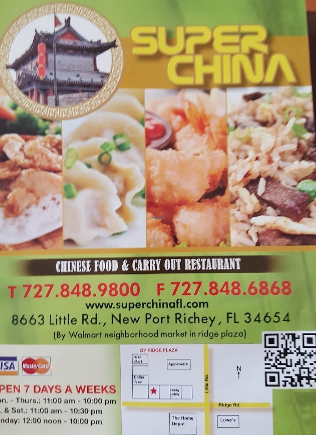 """Photo of Super China   by <a href=""""/members/profile/debbiesmall"""">debbiesmall</a> <br/>Menu & contact info Place is in shopping center with Hobby Lobby & HSN outlet , near Walmart grocery store  <br/> October 25, 2016  - <a href='/contact/abuse/image/81967/196999'>Report</a>"""