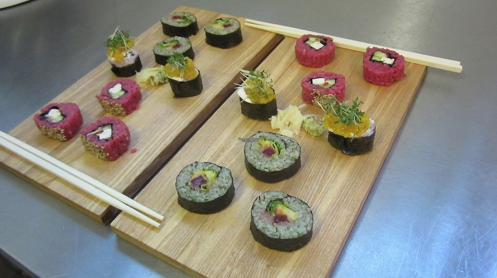 """Photo of Wo ist der Fisch? Sushi  by <a href=""""/members/profile/community"""">community</a> <br/>vegan sushi <br/> November 12, 2016  - <a href='/contact/abuse/image/82034/188782'>Report</a>"""