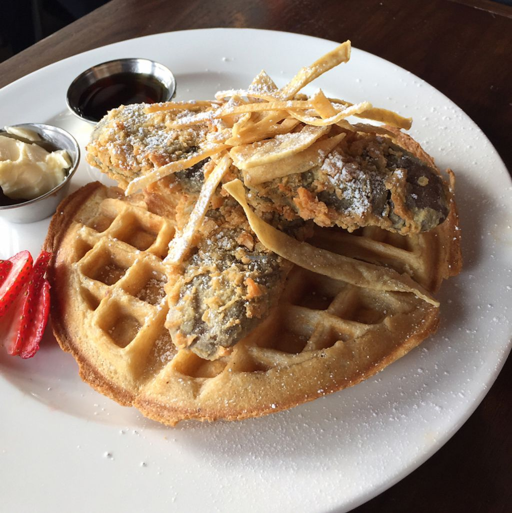 """Photo of V-Eats  by <a href=""""/members/profile/eatyourveggies"""">eatyourveggies</a> <br/>brunch: chicken and waffles <br/> December 28, 2016  - <a href='/contact/abuse/image/82061/205811'>Report</a>"""