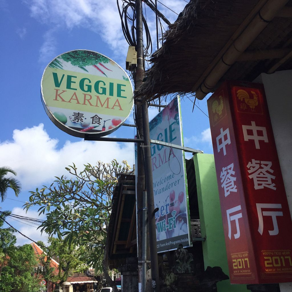 """Photo of Veggie Karma  by <a href=""""/members/profile/ChiamLongThiam"""">ChiamLongThiam</a> <br/>signage  <br/> May 27, 2017  - <a href='/contact/abuse/image/82067/262900'>Report</a>"""
