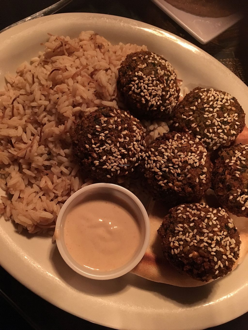 """Photo of King Tut  by <a href=""""/members/profile/SharonLaneHenderson"""">SharonLaneHenderson</a> <br/>Falafel place with rice.  <br/> August 13, 2017  - <a href='/contact/abuse/image/82097/292296'>Report</a>"""