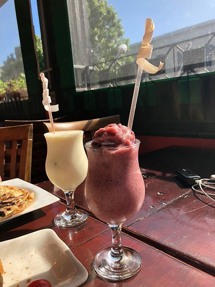 """Photo of Babylon Theatre Cafe  by <a href=""""/members/profile/AaronParr"""">AaronParr</a> <br/>Pina Colada (virgin/vegan) and Dragon Fruit & Rose Frappe (virgin/vegan) <br/> November 16, 2017  - <a href='/contact/abuse/image/82101/326250'>Report</a>"""
