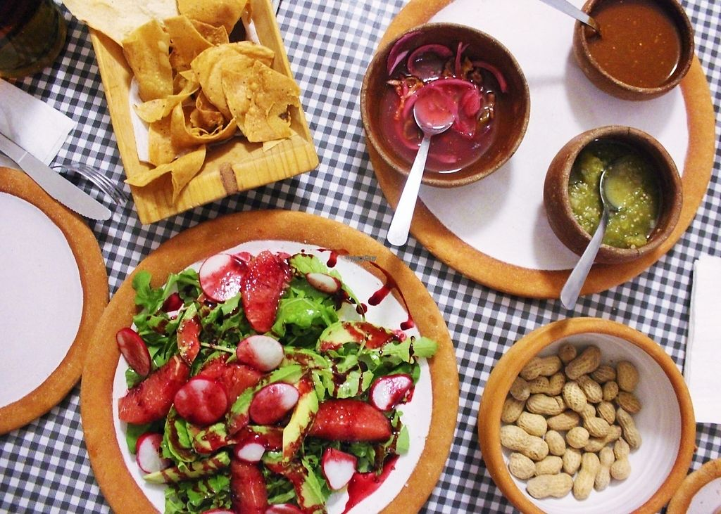 """Photo of Cabuche  by <a href=""""/members/profile/charlieontravel"""">charlieontravel</a> <br/>Vegan grapefruit salad and lots of free sides <br/> November 10, 2016  - <a href='/contact/abuse/image/82103/188274'>Report</a>"""