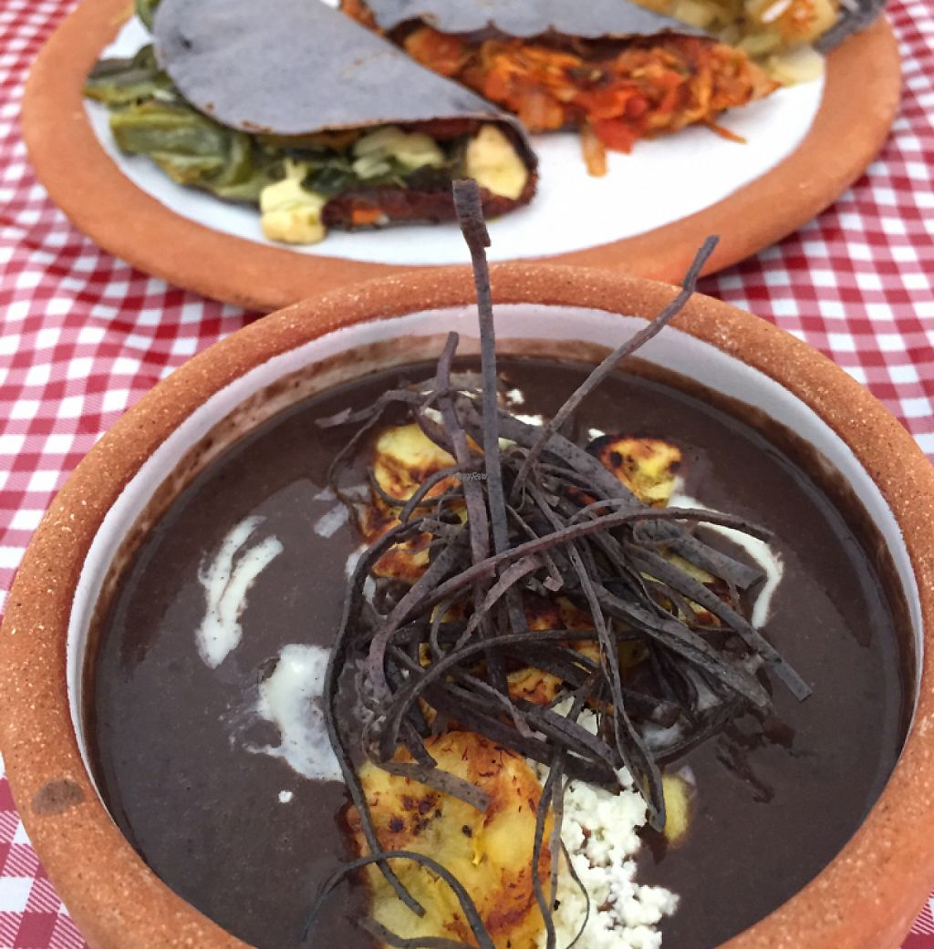 """Photo of Cabuche  by <a href=""""/members/profile/FayeM"""">FayeM</a> <br/>amazing black bean soup and tacos <br/> March 6, 2017  - <a href='/contact/abuse/image/82103/233620'>Report</a>"""