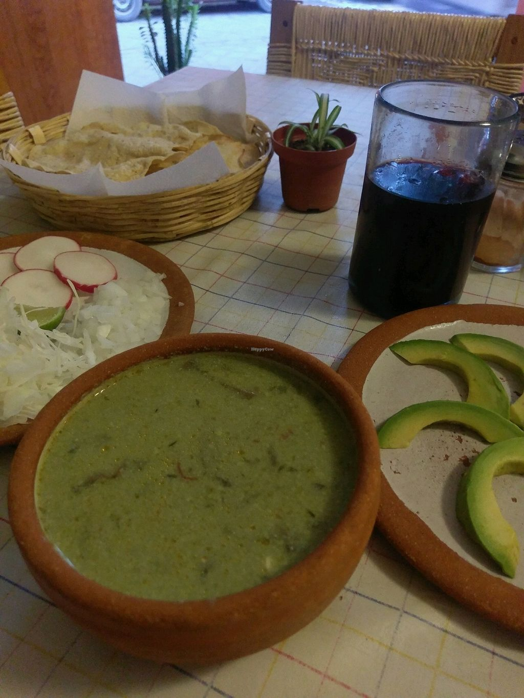 """Photo of Cabuche  by <a href=""""/members/profile/amylorelle"""">amylorelle</a> <br/>vegan soup with extra avocado, comes with salad bits and crisp bread <br/> September 17, 2017  - <a href='/contact/abuse/image/82103/305185'>Report</a>"""