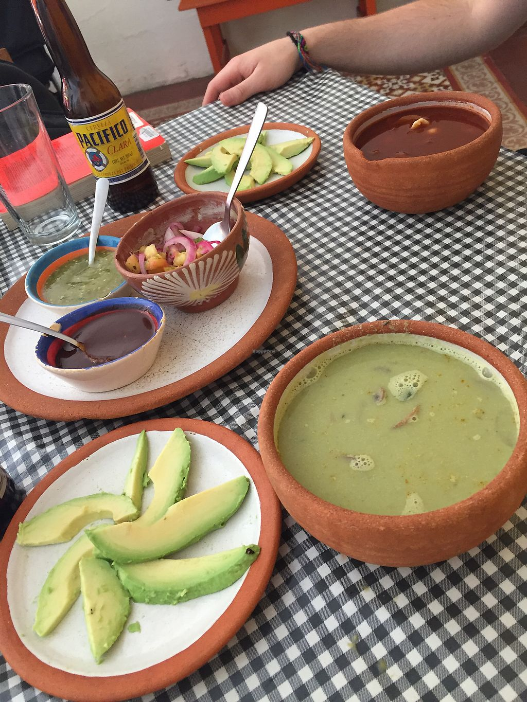 """Photo of Cabuche  by <a href=""""/members/profile/SinzianaK"""">SinzianaK</a> <br/>Green and red pozole with avocado  <br/> December 30, 2017  - <a href='/contact/abuse/image/82103/340695'>Report</a>"""