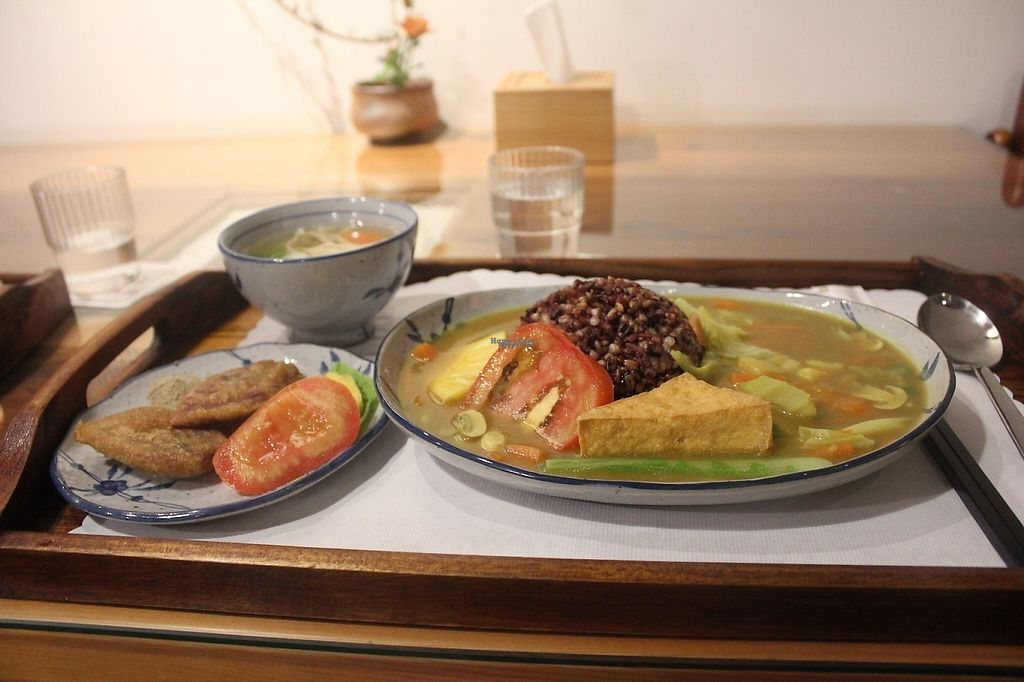 "Photo of Organic Farm Restaurant  by <a href=""/members/profile/charlieontravel"">charlieontravel</a> <br/>Japanese curry with tofu and five grain rice.  <br/> November 10, 2016  - <a href='/contact/abuse/image/82104/188275'>Report</a>"