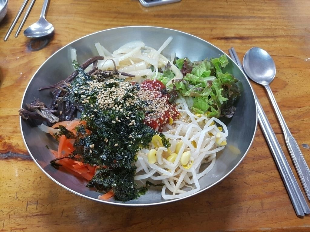 """Photo of Myeongshin - 명신식당  by <a href=""""/members/profile/mfrenette"""">mfrenette</a> <br/>Yachae (veg) Bibibab no egg <br/> October 30, 2016  - <a href='/contact/abuse/image/82112/185342'>Report</a>"""