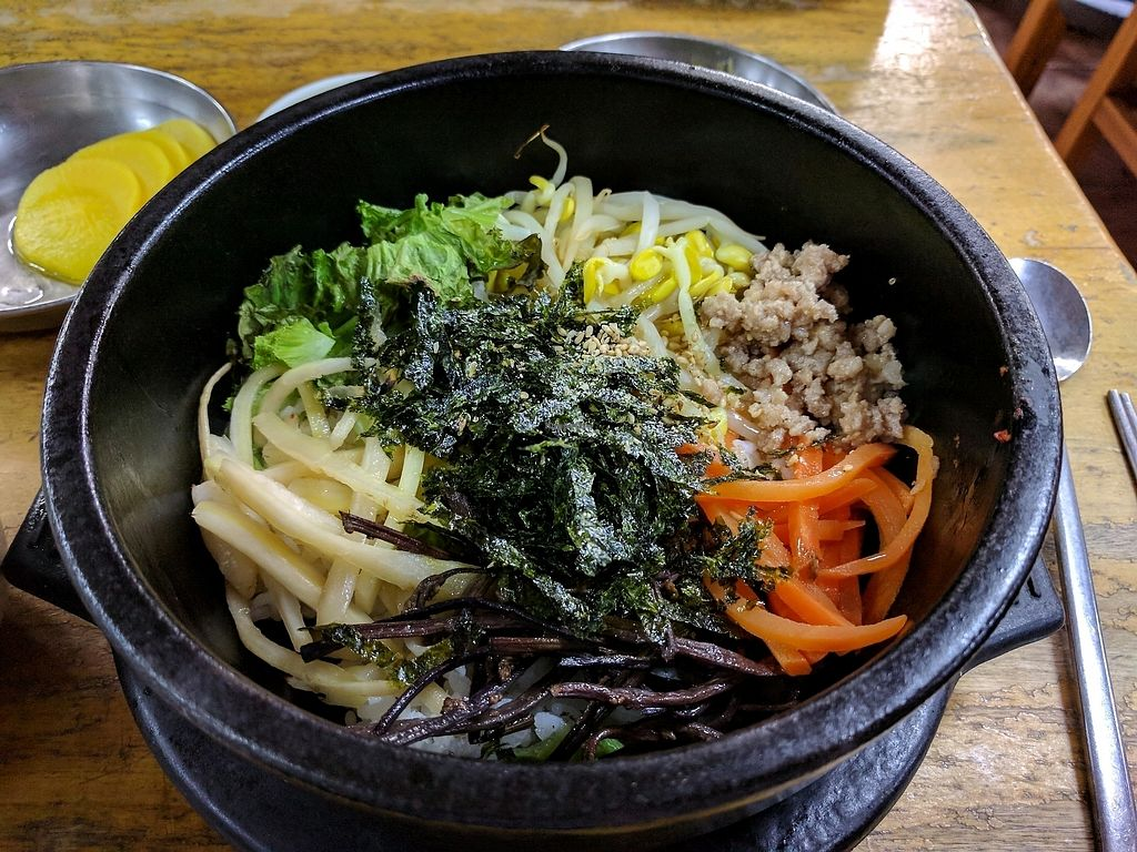 """Photo of Myeongshin - 명신식당  by <a href=""""/members/profile/PhillipPark"""">PhillipPark</a> <br/>maek sure to say no meat!!! omg i wasnt expecting minced beef <br/> October 23, 2017  - <a href='/contact/abuse/image/82112/317926'>Report</a>"""