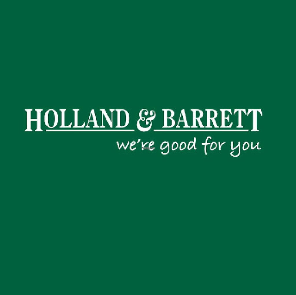 "Photo of Holland and Barretts   by <a href=""/members/profile/VeggieFromSpace"">VeggieFromSpace</a> <br/>logo <br/> November 9, 2016  - <a href='/contact/abuse/image/82120/187995'>Report</a>"