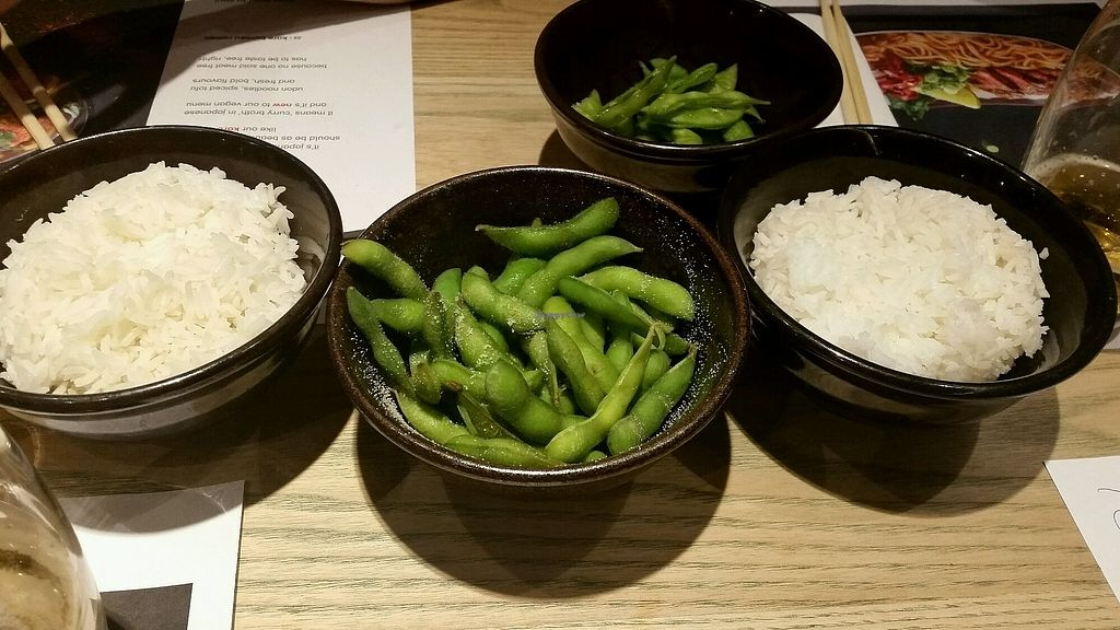 """Photo of Wagamama  by <a href=""""/members/profile/Zuzys"""">Zuzys</a> <br/>Edamame & rice  <br/> October 19, 2017  - <a href='/contact/abuse/image/82121/316749'>Report</a>"""