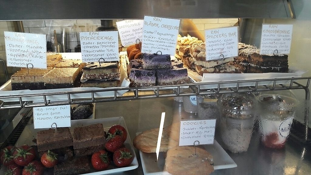 """Photo of Le Kaff  by <a href=""""/members/profile/piffelina"""">piffelina</a> <br/>Top row: vegan cake selection! <br/> July 11, 2017  - <a href='/contact/abuse/image/82136/279085'>Report</a>"""
