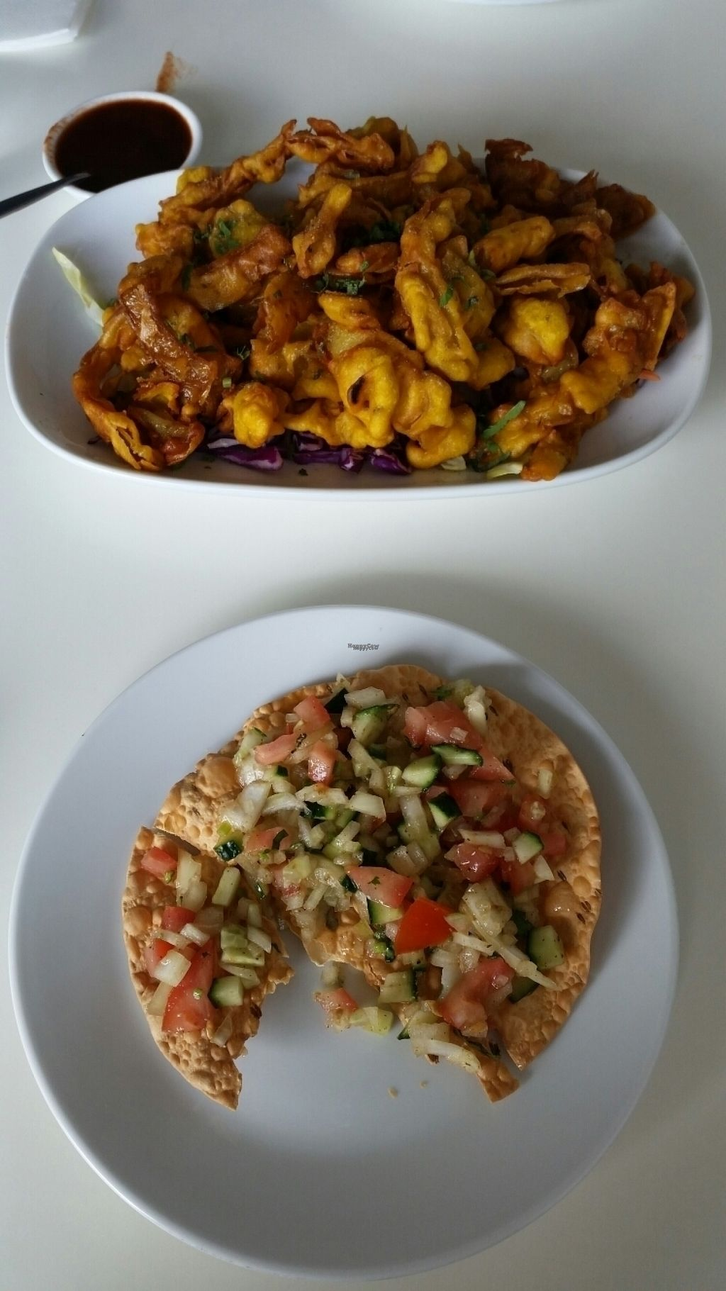 """Photo of Himalayan Kitchen  by <a href=""""/members/profile/AndyTheVWDude"""">AndyTheVWDude</a> <br/>Masala Papadam & Onion Bhaji <br/> October 30, 2016  - <a href='/contact/abuse/image/82156/185347'>Report</a>"""