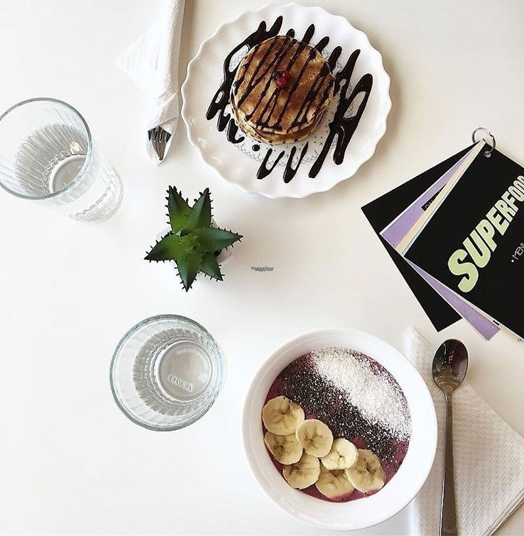 """Photo of Superfood Smoothie Bar  by <a href=""""/members/profile/TinaLotus"""">TinaLotus</a> <br/>The best american-style pancakes I've ever tried and they turned out to be vegan (they even make their own chocolate spread and it tastes just like nutella). I've also tried acai bowl and it was really good as well! If you're in Split, you should check out this place! This is a must! <br/> April 20, 2017  - <a href='/contact/abuse/image/82164/250143'>Report</a>"""
