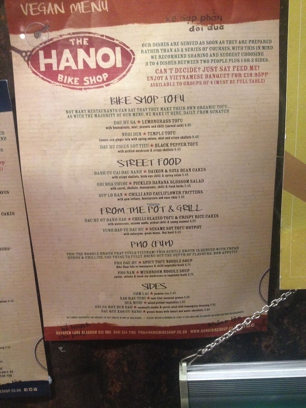 "Photo of Hanoi Bike Shop  by <a href=""/members/profile/esther802535"">esther802535</a> <br/>Full vegan menu as of Dec. 2016. Recommend zooming in <br/> December 27, 2016  - <a href='/contact/abuse/image/82176/205410'>Report</a>"
